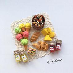 Culinary miniature! The size is 2 cm! 🧀🍦 Кулинарная Миниатюра! Размер 2 см!