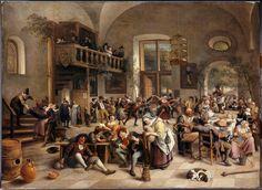 Jan Havicksz Steen (1626-1679), 'Fête dans une auberge'.