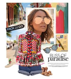 """""""Pack n Go Cuba!"""" by groove-muffin ❤ liked on Polyvore featuring Oliver Gal Artist Co., RED Valentino, Quay, Vera Bradley, DICK MOBY and Dolce&Gabbana"""