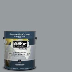 BEHR Premium Plus Ultra 1-gal. #N500-4 Pencil Sketch Satin Enamel Interior Paint - 775401 - The Home Depot