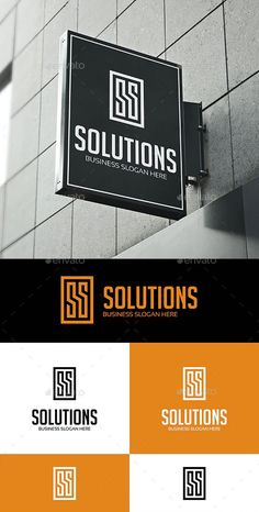 Solutions - S or SS Logo Template AI, EPS Business Slogans, Logo Templates