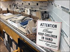 Please Keep Children In Hand Main Hand Lettering, Safety, Boards, Retail, Tiles, Store, Children, Home Decor, Sup Boards