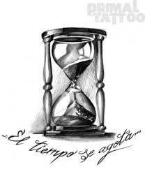 Resultado de imagen para reloj de arena tatuaje