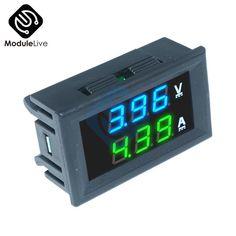 4V-30V 100V 10A 0.36 inch LED Voltage Panel Voltmeter /& Ammeter Volt Gauge Meter