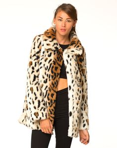 Motel Fudge Faux Fur Jacket in Leopard, TopShop, ASOS, House of Fraser, Nasty gal