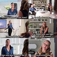 Kara Danvers Supergirl, Supergirl Comic, Supergirl And Flash, Cute Memes, Stupid Funny Memes, Cat Grant, Molduras Vintage, Supergirl Season, Dc World