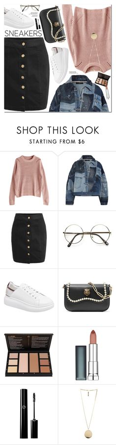 """White Sneakers"" by oshint ❤ liked on Polyvore featuring Dolce&Gabbana, Gucci, Maybelline and Givenchy"