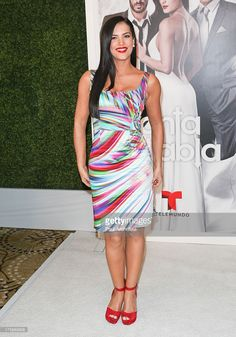 Actress <a gi-track='captionPersonalityLinkClicked' href=/galleries/search?phrase=Gaby+Espino&family=editorial&specificpeople=4233029 ng-click='$event.stopPropagation()'>Gaby Espino</a> attends the Telemundo press annoucement for 'Santa Diabla' at the Regent Beverly Wilshire Hotel on August 5, 2013 in Beverly Hills, California.