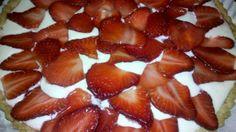 Tarta de yogurt y frutillas