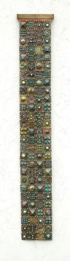 """Low Down Blues""  2009 - David Luck sculptural wall hanging made from copper, brass and patina."