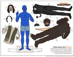 figurine papier arrested devellopment poupee illustration 08 Figurines en papier des personnages dArrested Development  design bonus
