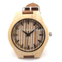 This is nice, check it out!   2015 Newest Bamboo Wooden Watch Wristwatches Japan quartz watches Genuine Cowhide Leather Straps Causal Luxury Wood Watch - US $20.39 http://jewelrywatchesonline.com/products/2015-newest-bamboo-wooden-watch-wristwatches-japan-quartz-watches-genuine-cowhide-leather-straps-causal-luxury-wood-watch/