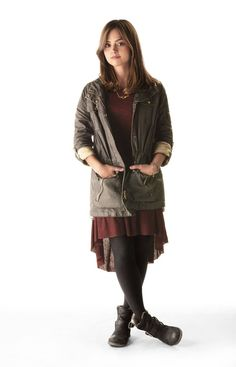 Women Of Doctor Who : Jenna Coleman as Clara Oswald. Doctor Who Series 7, Doctor Who Clara, Doctor Who 2005, Eleventh Doctor, Jenna Coleman, Doctor Who Cosplay, Clara Oswald Clothes, Clara Oswald Outfits, Clara Oswald Cosplay