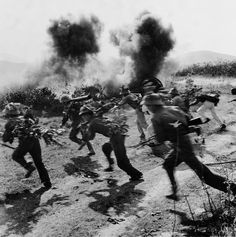 1972 NVA soldiers dash across open ground near strategic Highway 9 in southern Laos during Operation Lam Son 719, the South's failed attempt to cut the Ho Chi Minh Trail.