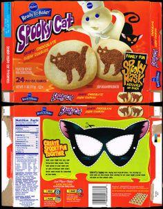 pillsbury ready to bake spooky cat shape sugar cookies cookie box - Pillsbury Dough Boy Halloween Cookies