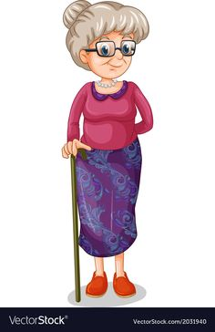 An old woman with a cane Royalty Free Vector Image Valentine's Day Emoji, Cause And Effect Worksheets, Clown Crafts, Family Clipart, Grandparents Day Crafts, Flashcards For Kids, Ecole Art, Cartoon People, Locked Wallpaper