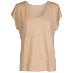 Comptoir Des Cotonniers Jersey T-Shirt Tacific - Colour Sand Chine (190.820 RUB) ❤ liked on Polyvore featuring tops, t-shirts, shirts, jersey tee, tee-shirt, linen tee, jersey shirt and beige shirt