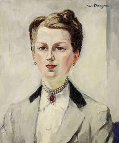 thunderstruck9:  Kees van Dongen (Dutch, 1877-1968), Portrait de Madame Dewisme, 1939. Oil on canvas, 46 x 55 cm.: