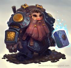 Cave Dwarf, Jordan Kerbow on ArtStation at http://www.artstation.com/artwork/cave-dwarf