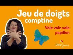 Vole, vole, vole Papillon - Comptine - Jeu de doigts - YouTube