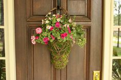 DIY moss basket for front door