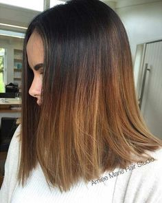 Medium Length Caramel Balayage Hair