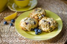 These paleo lemon blueberry scones are gluten-free, grain-free, dairy-free and refined sugar-free.