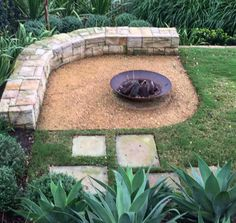 seating Diy Fireplace, Fireplaces, Backyard Projects, Home Repair, Landscape Architecture, Stepping Stones, Outdoor Gardens, Garden Design, Pergola