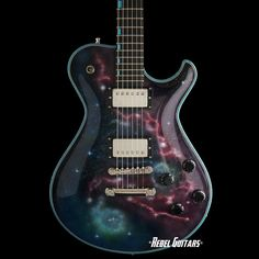 Knaggs Guitars Steve Stevens SSC in Galaxy with Turquoise Binding & Inlays | Rebel Guitars