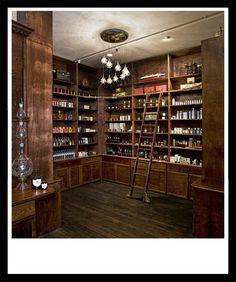 dark antique cabinets