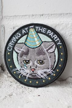 Crying at the Party iron-on patch | Stay Home Club