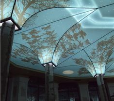 Creative Stretch Ceiling, Printed, Backlit and with 3D Effect.