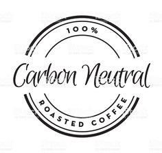 Carbon Neutral Coffee round labels on coffee bean textured background royalty-free carbon neutral coffee round labels on coffee bean textured background stock illustration - download image now