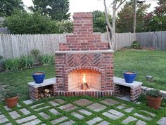 outdoor fireplaces ideas | Building Outdoor Fireplace | Brick ...