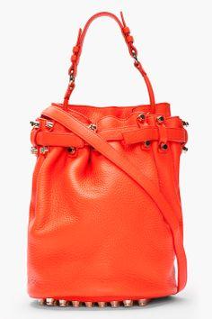 ALEXANDER WANG Deep coral Diego Dumbo Refined bag
