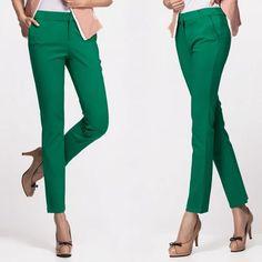00bb2d3514 Women's Slim Stretch Pants Price: 39.00 & FREE Shipping #womandress  Ankle Length Pants