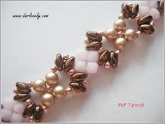 Rose Bronze Superduo Bracelet