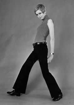 1966 twiggy - Google Search- 1966 was one of the early years in which pants became acceptable clothing for women outside of their home