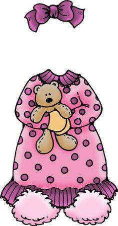 Láminas Infantiles y para Adolescentes (pág. 141) | Aprender manualidades es facilisimo.com Baby Girl Clipart, Pajama Day, Paper Dolls Printable, Dollhouse Kits, Chip Bags, Babies First Year, Doll Quilt, Vintage Paper Dolls, Retro Toys