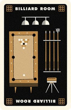 Clue Billiard Room, Andrew Kolb