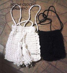 bolsa em croche tunisiano rapida e facil de fazer.DIY