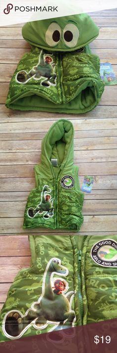 The Good Dinosaur green puffer hoodie How cute is this?? Fleece lined. Disney Jackets & Coats Puffers