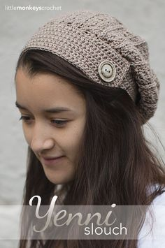 Beautiful !!! Yenni Slouch Crochet Hat | Free Slouchy Hat Crochet Pattern by Little Monkeys Crochet