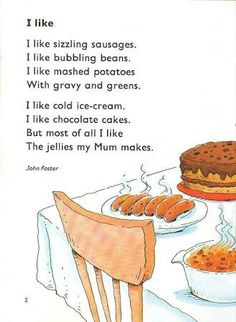 FUNNY ENGLISH CLASSROOM: FOOD POEM | Poem | Pinterest | Poem and ...