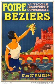 Foire Viticole Industrielle Commerciale - Béziers - 1934 - France -