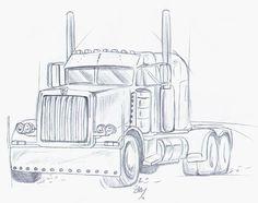 Color Pencil Drawing Ideas Pencil Drawings of Semi Trucks Wall Drawing, Painting & Drawing, Car Drawings, Pencil Drawings, Pencil Art For Beginners, Trucker Tattoo, Pencil Drawing Tutorials, Drawing Ideas, Truck Paint