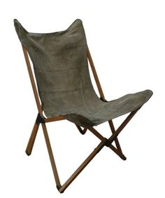 Tripolina Chair in recycled army canvas