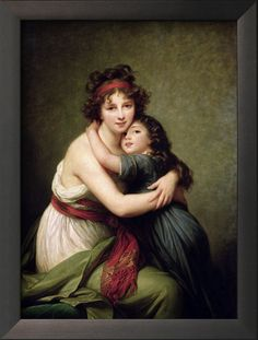 Madame Vigee-Lebrun and Her Daughter, Jeanne-Lucie-Louise (1780-1819) by Elisabeth Vigee-Lebrun1789