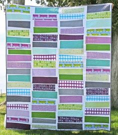 Free quilt pattern from Robert Kaufman. Order a kit or choose your own fabric remnants to make this cute quilt.