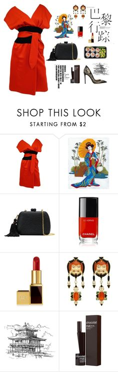 """""""Memoirs of a Geisha"""" by valya-strelc ❤ liked on Polyvore featuring Estevez, Serpui, Chanel, Tom Ford, Marilyn F. Cooperman, Masaki Matsushima and Gianvito Rossi"""